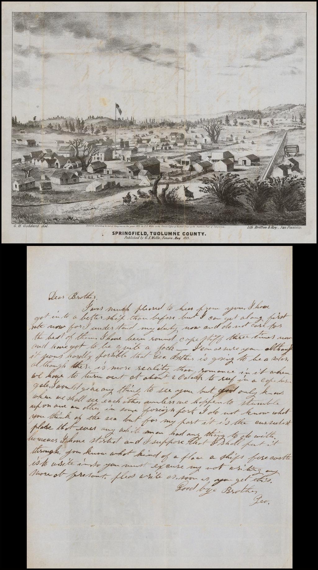 Springfield, Tuolumne County. . .  1853 By Britton & Rey