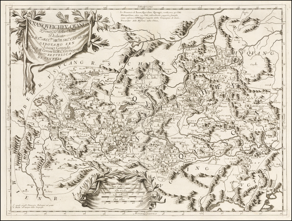 Iunan, Queicheu, e Quangsi Provincie della China . . .  By Vincenzo Maria Coronelli