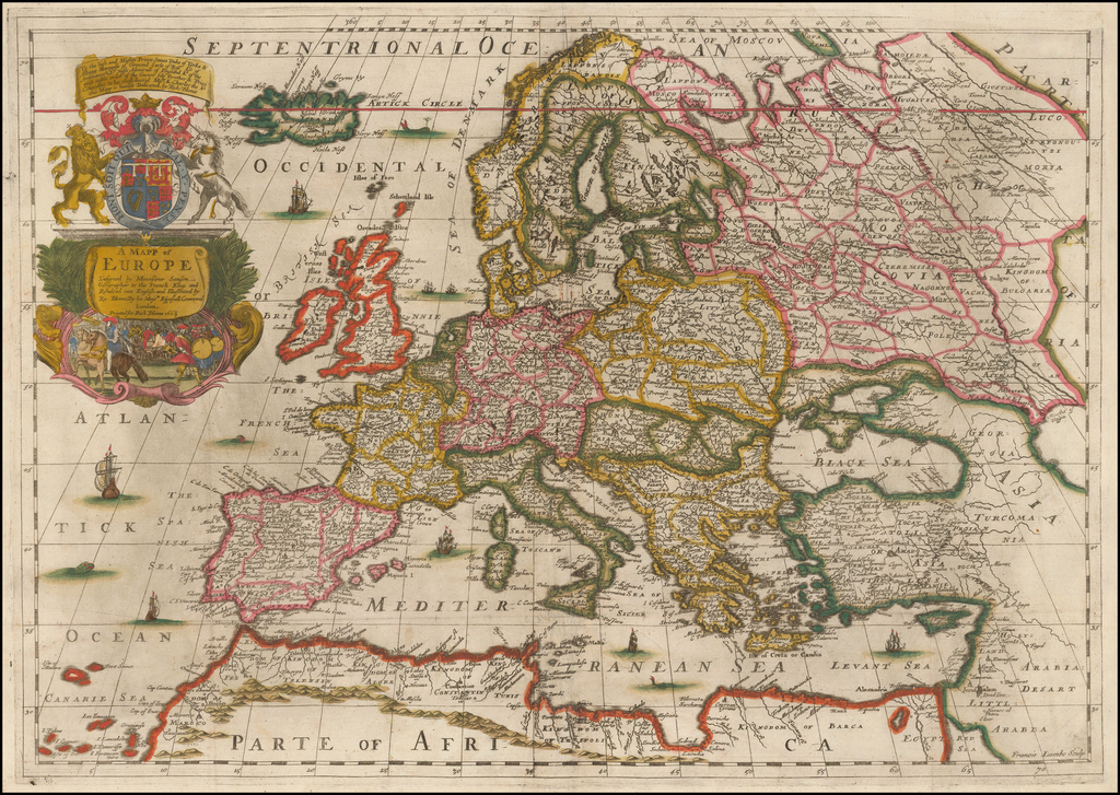 A New Mapp of Europe . . . 1669 By Richard Blome