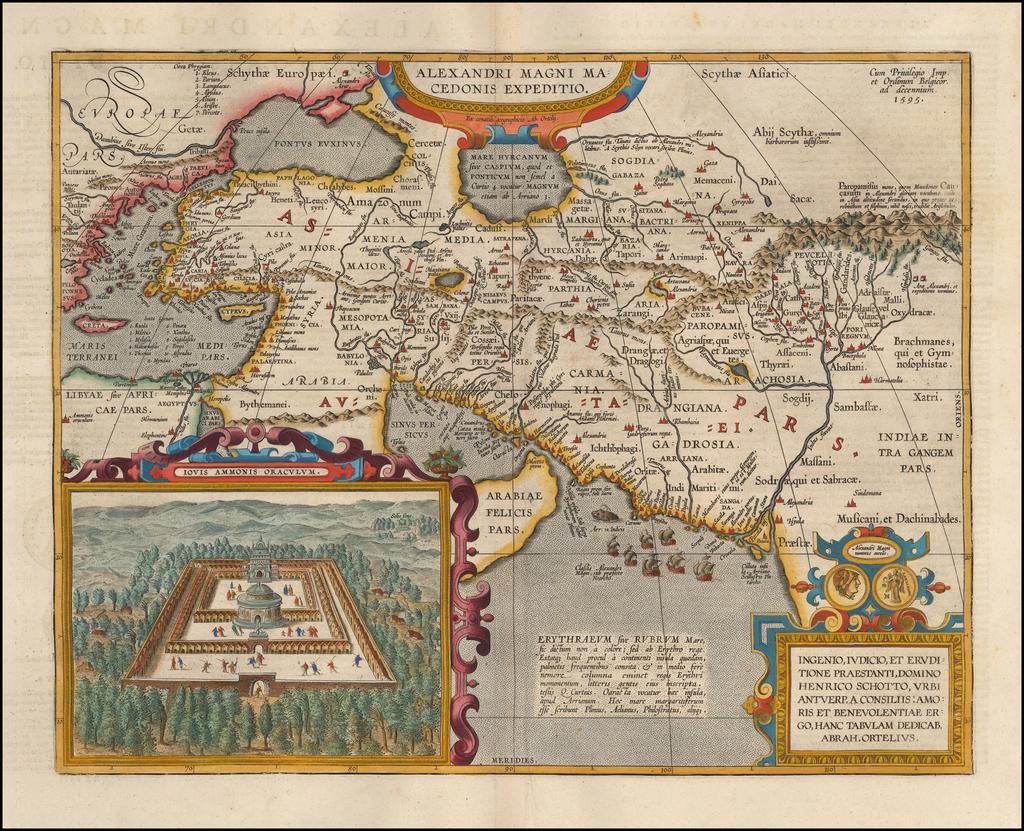 Alexandri Magni Macedonis Expeditio By Abraham Ortelius
