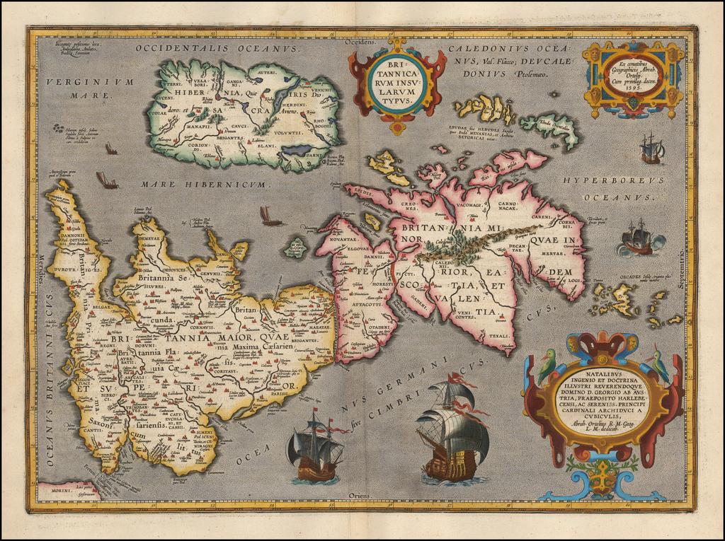 Britannicarum Insularum Typus By Abraham Ortelius