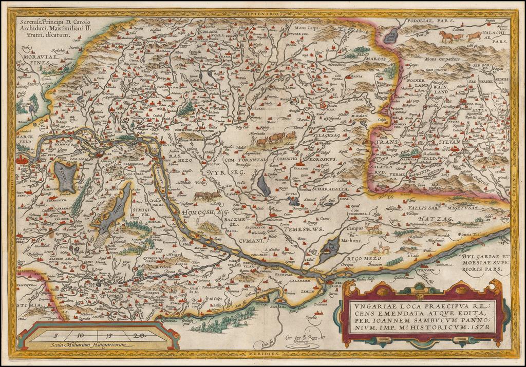 Ungariae Loca Praecipua Recens Emendata . . .  By Abraham Ortelius