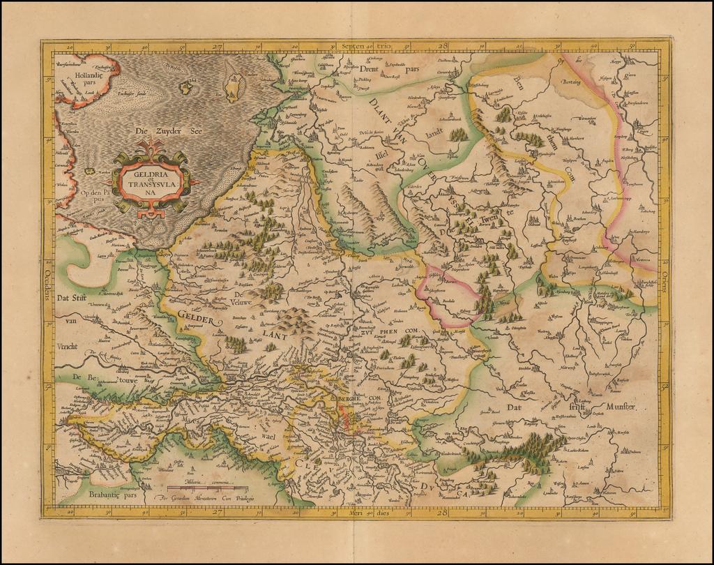 Geldria et Transysulana   By  Gerard Mercator