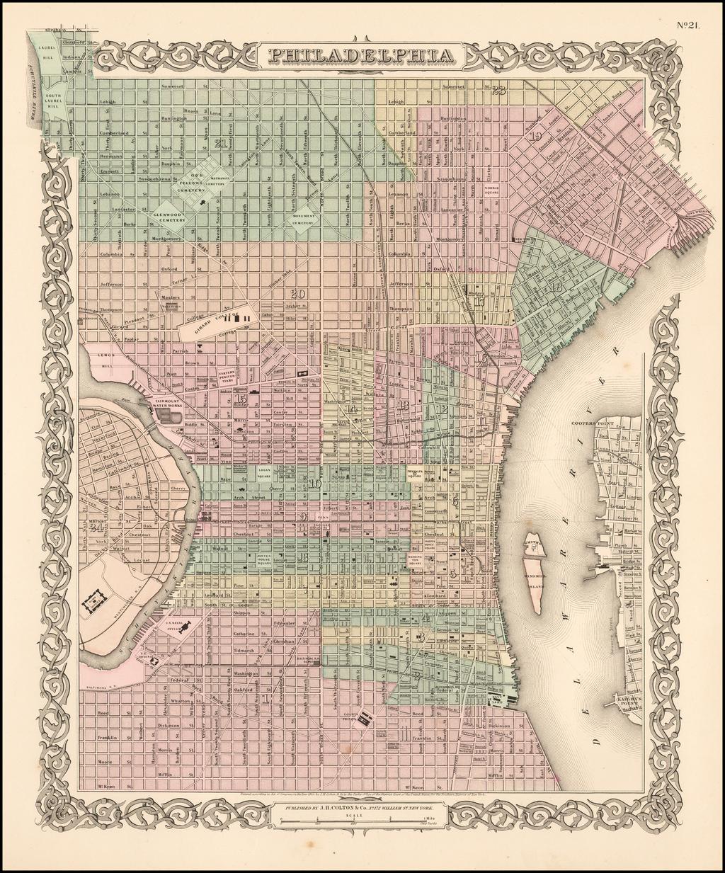 Philadelphia By Joseph Hutchins Colton