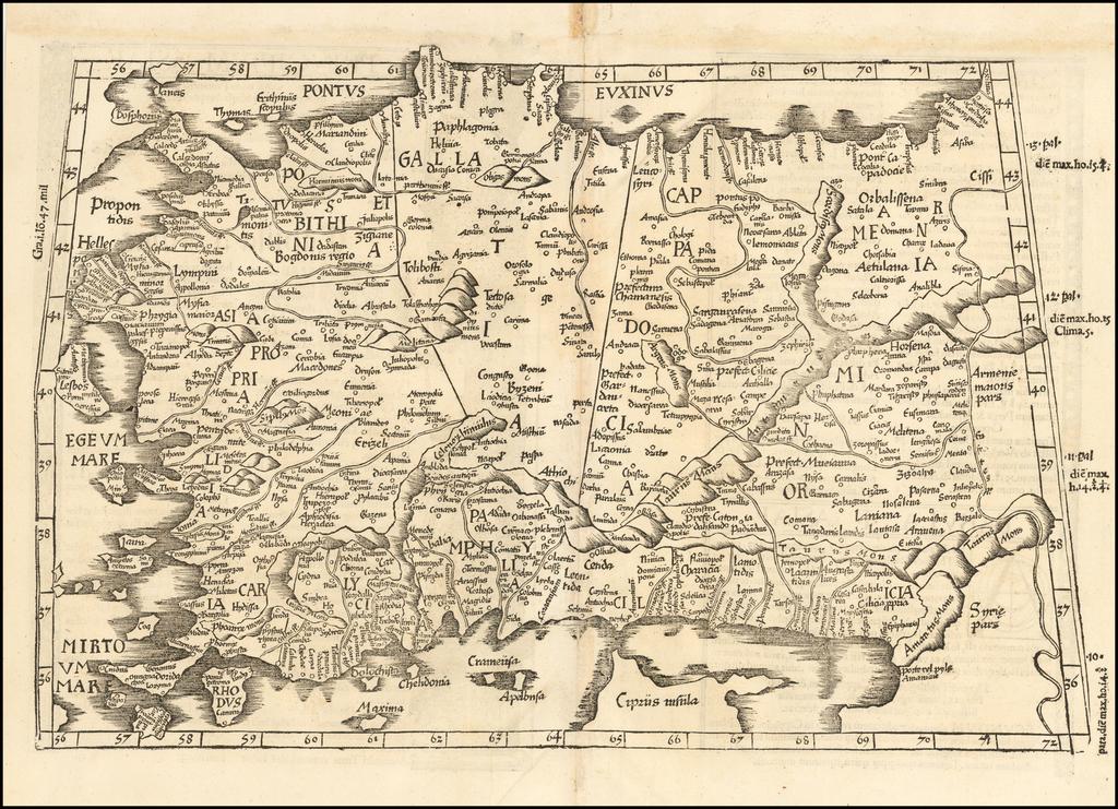 (Asia Minor & Cyprus) By Lorenz Fries