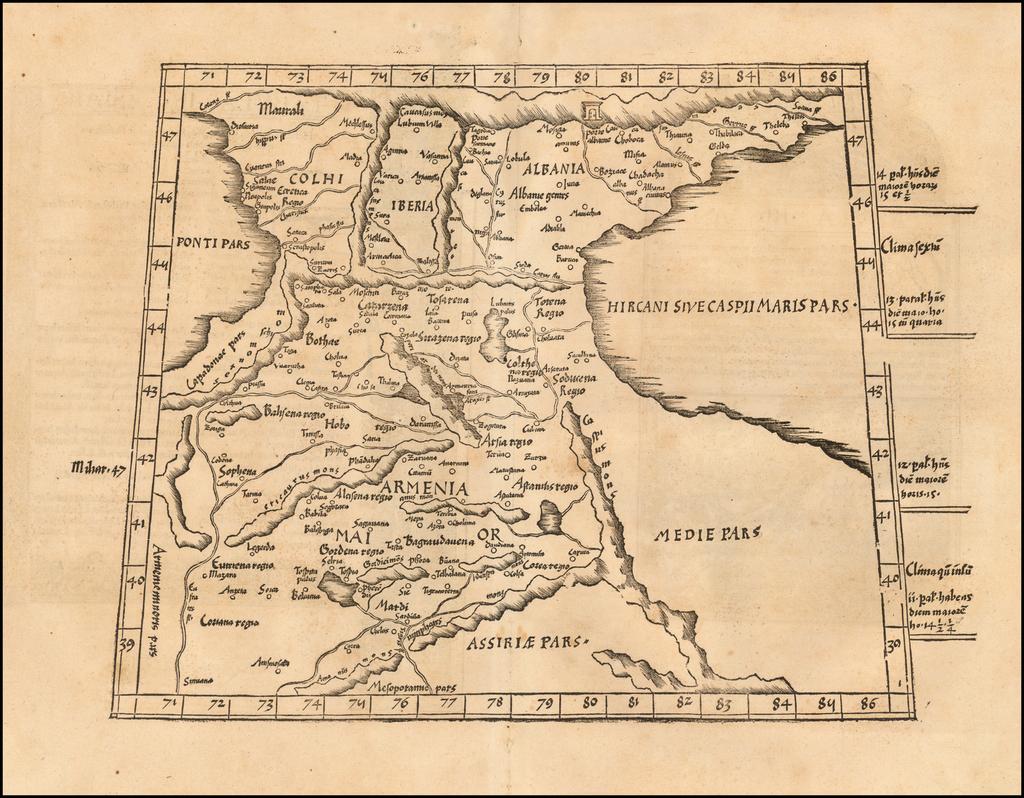 [Armenia and Caspian Region] Tabula III Asiae  By Lorenz Fries