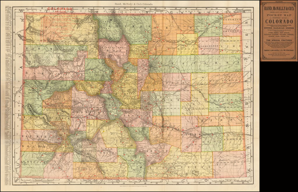 Rand, McNally & Co.'s Indexed County and Township Pocket Map and Shipper's Guide of Colorado (Pocket Map) By Rand McNally & Company