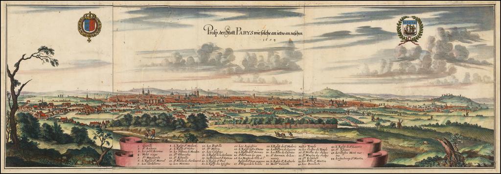 [Paris] Prosp. der Statt Parys . . . 1654 By Matthaus Merian