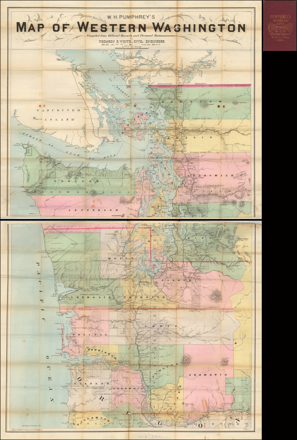W. H. Pumphrey\'s Map of Western Washington Compiled from ...
