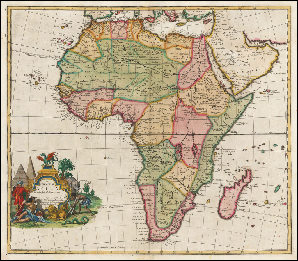 A New Map of Africa From the Latest Observations . . .  By John Senex