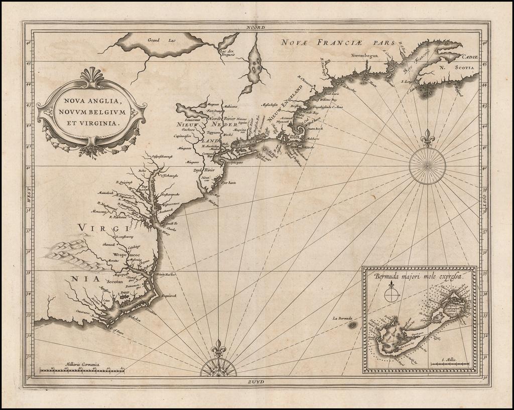 Nova Anglia, Novum Belgium et Virginia By Joannes De Laet