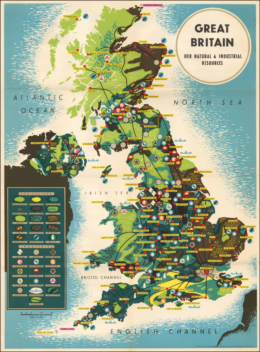 Great Britain Her Natural Resources By British Information Services