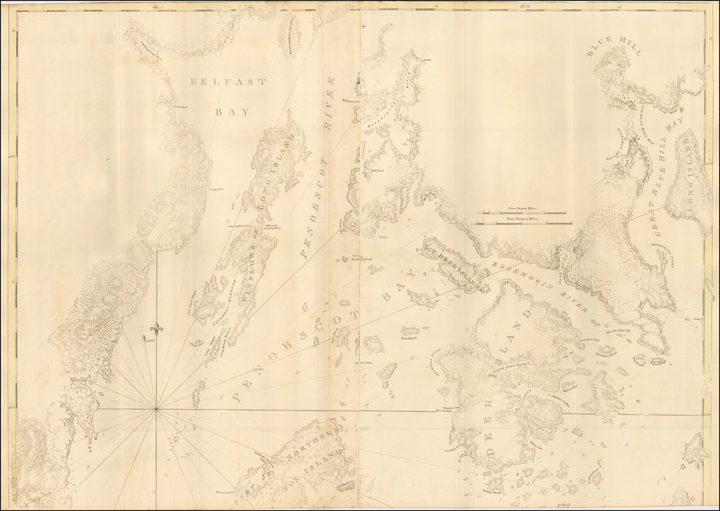 [Rockport Maine to Mount Desert Narrows -- Penobscot Bay] By Joseph Frederick Wallet Des Barres