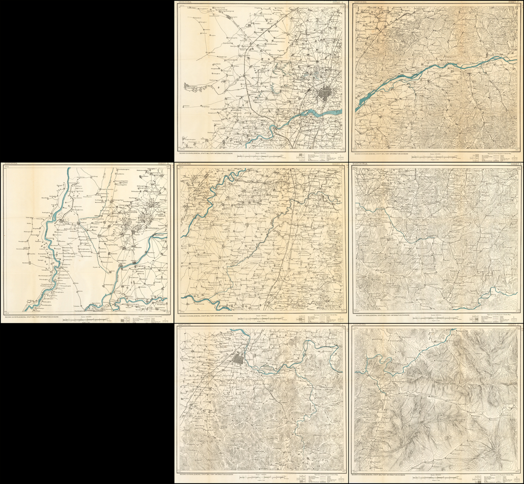 (7 Sheet Military Map of Part of Southern Manchuria) By United States War Dept.