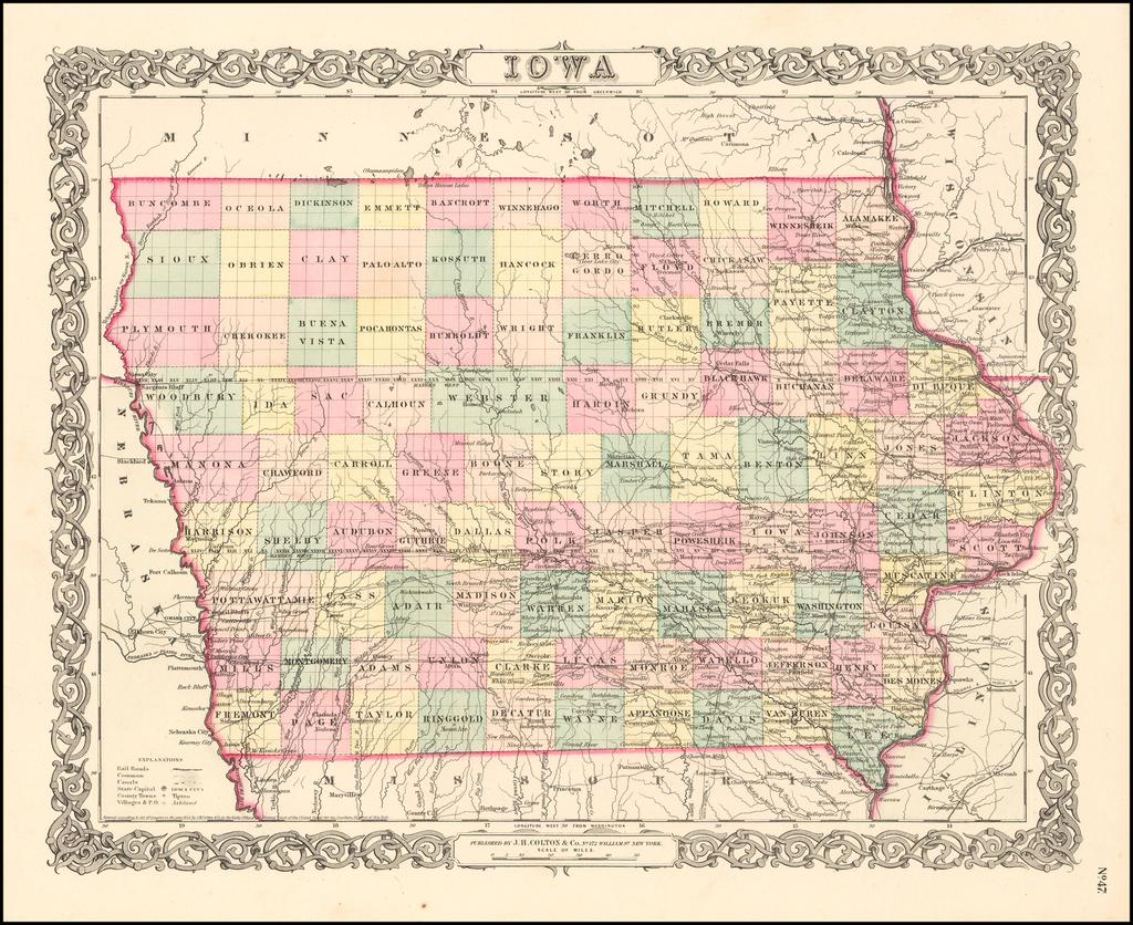 Iowa By Joseph Hutchins Colton