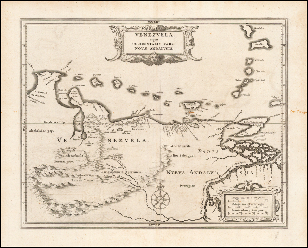 Venezuela, atque Occidentalis Pars Novae Andalusiae By Joannes De Laet