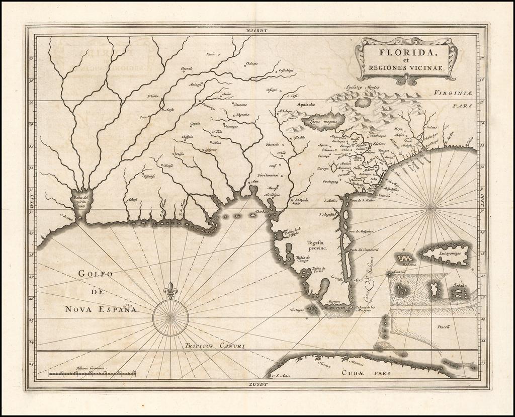 Florida et Regiones Vicinae By Joannes De Laet
