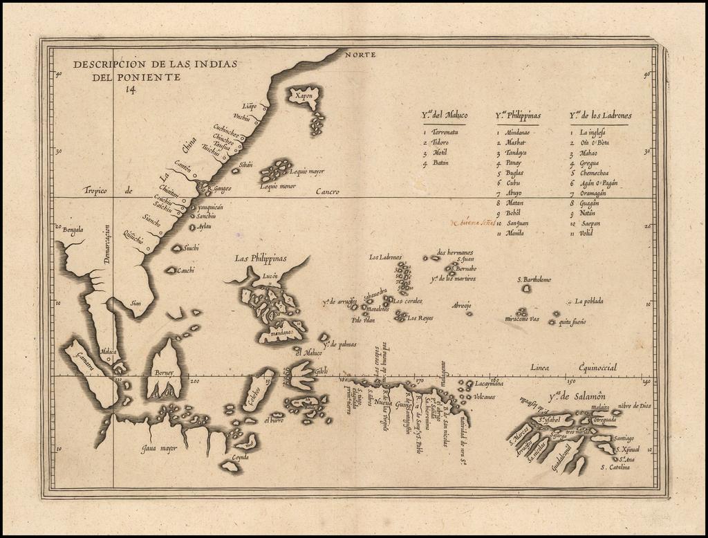 Descripcion De Las Indias Del Poniente  By Antonio de Herrera y Tordesillas
