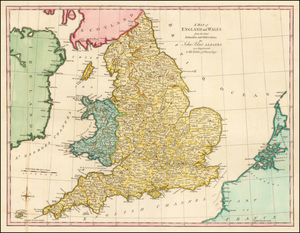 Large Map Of England.A Map Of England And Wales From The Latest Authorities And