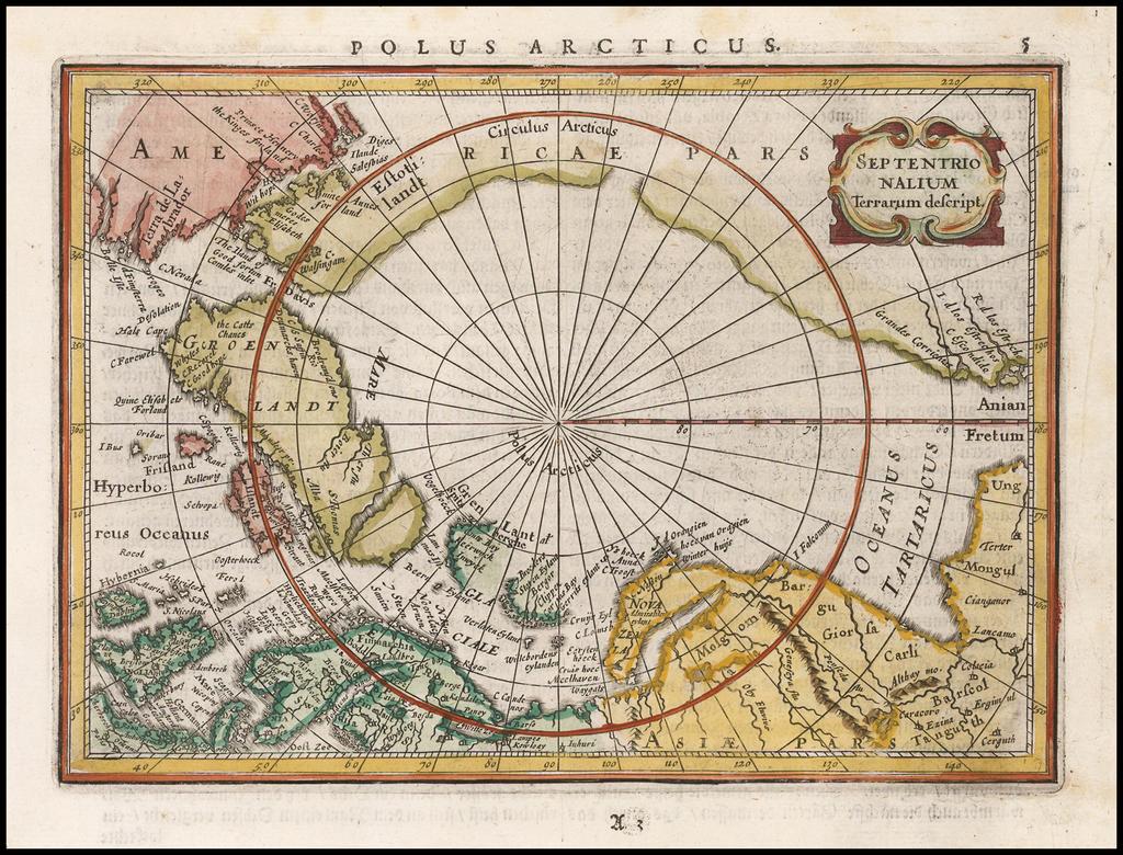 Septentrionalium Terrarum descript By Jan Jansson
