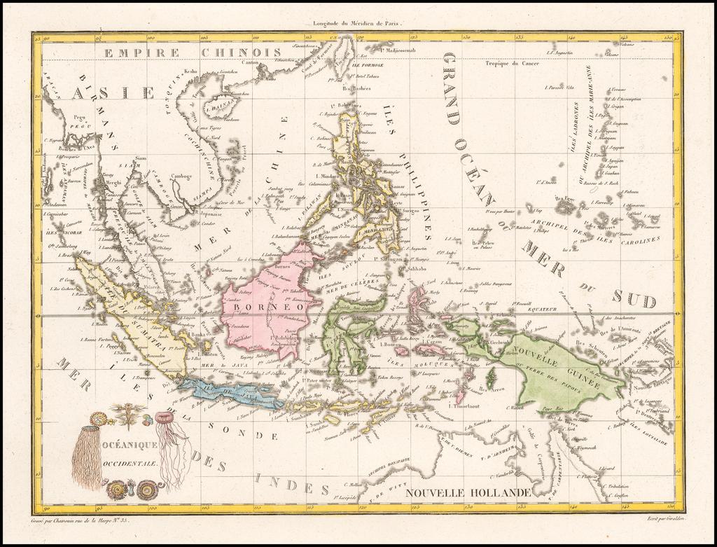 Oceanique Occidentale (Southeast Asia & Philippines) By Conrad Malte-Brun