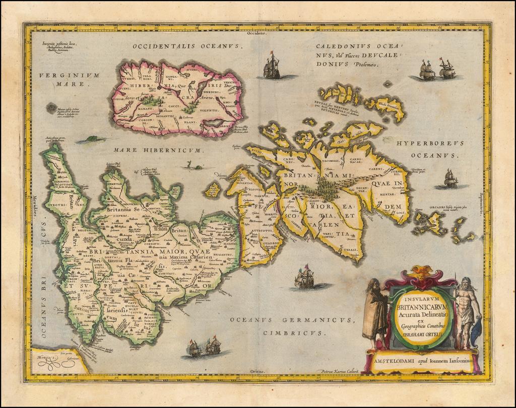 Insularum Britannicarum Acurata Delineatio ex Geographicis Conatibus Abraham Ortelii By Jan Jansson