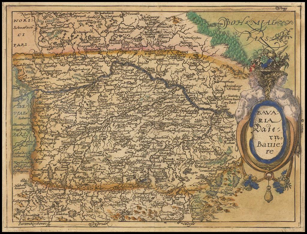 Bavaria  Baiern  Baviere By Johannes Matalius Metellus