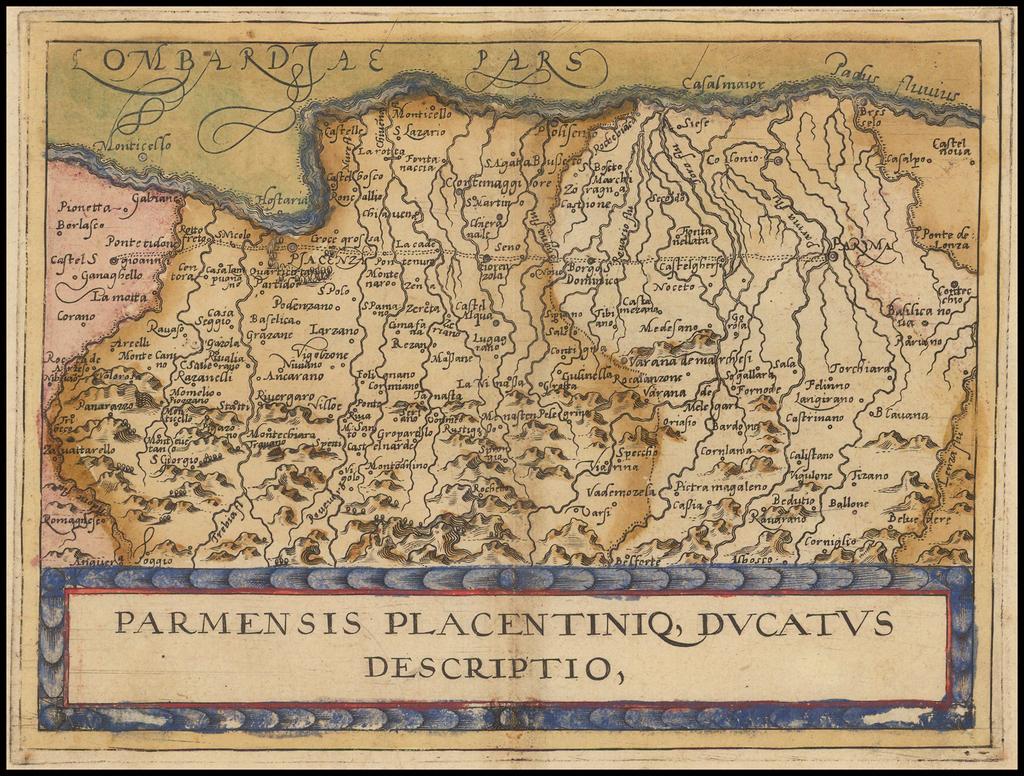 Parmenensis  Placentiniq, Ducatus Descriptio By Johannes Matalius Metellus