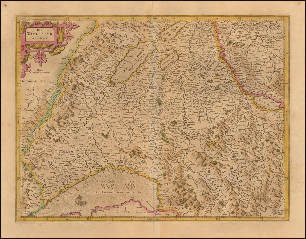 Das Wiflispurgergou By  Gerard Mercator