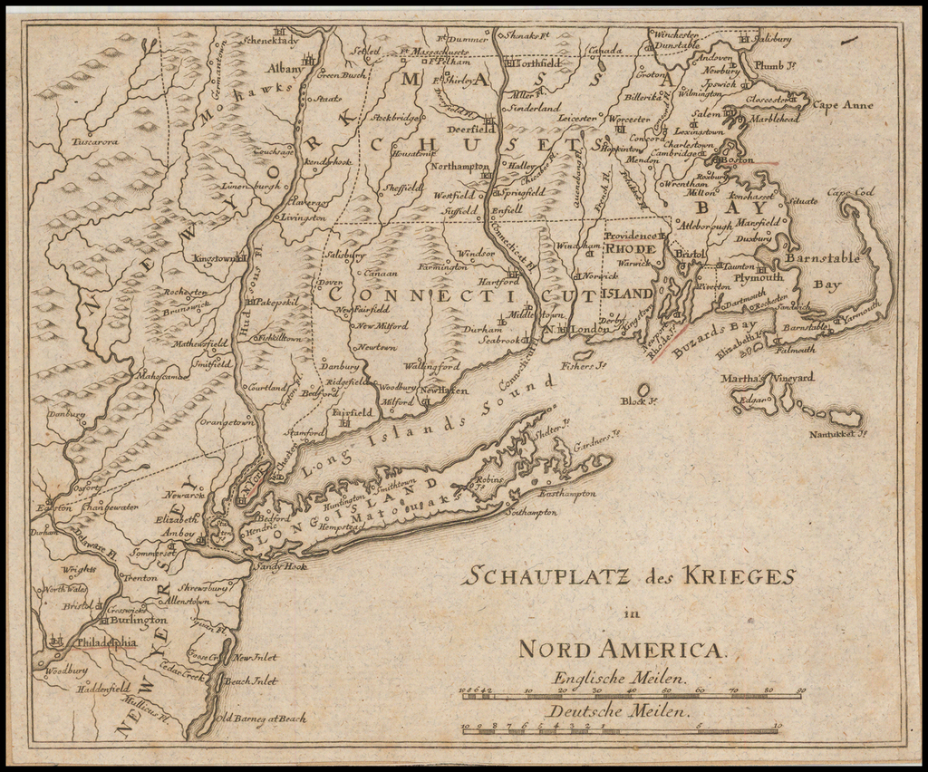 (Theater of War in North America)  Schauplatz des Krieges in Nord America By Anonymous