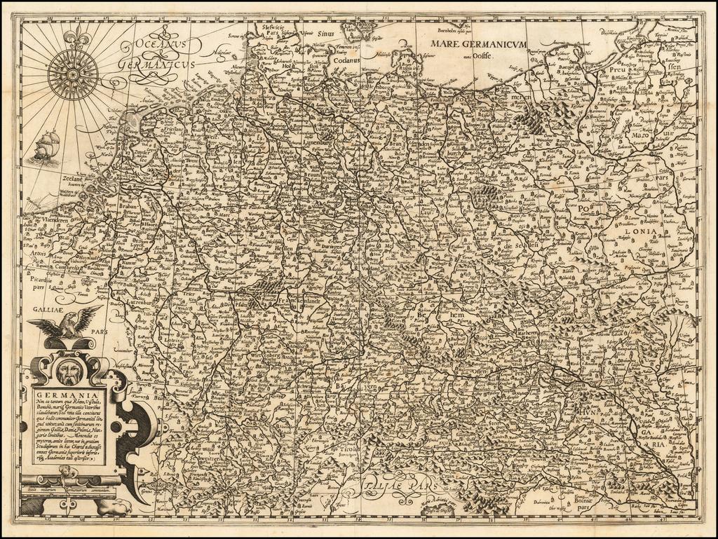 Germania Non ea tantum que Rheno, Vistula, Danubio, . . . By Jean Le Clerc