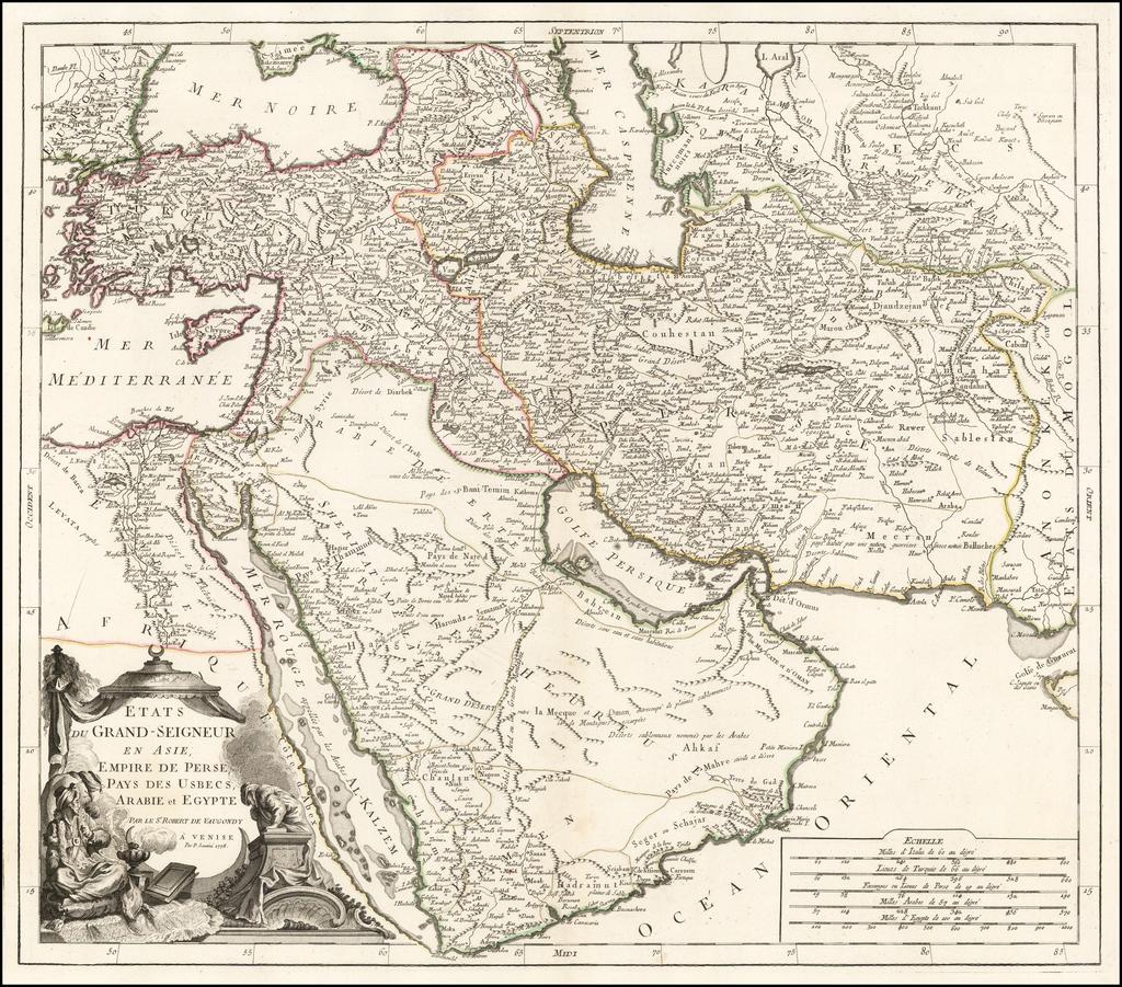 Etats Due Grand-Seigneur En Asie, Empire De Perse, Pays Des Usbecs, Arabie et Egypte . . . 1778 By Paolo Santini