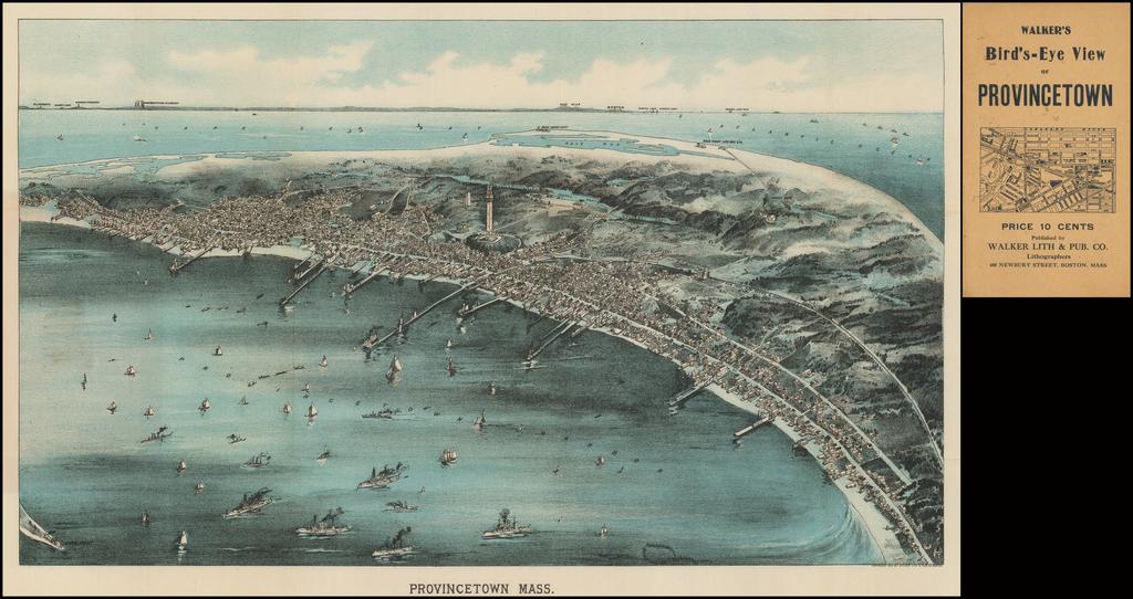 Walker's Bird's-Eye View of Provincetown By George H. Walker & Co.
