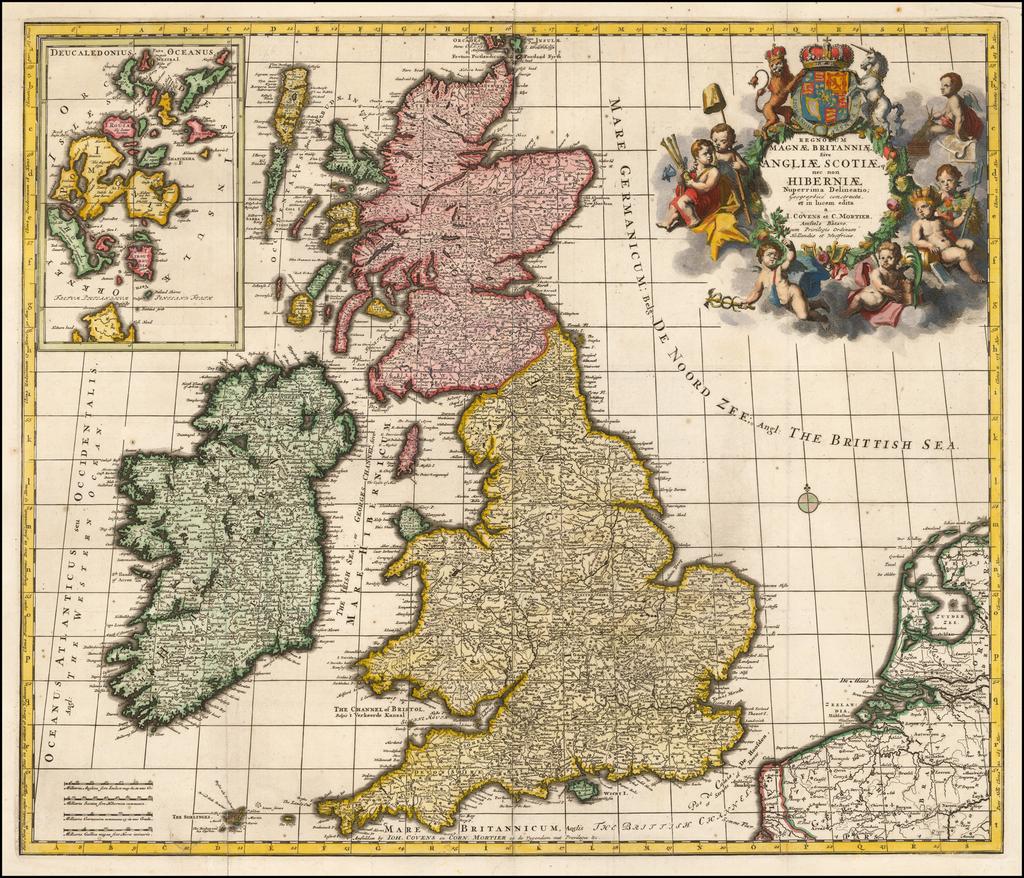 Regnorum Magnae Britanniae, Sive Angliae Scotiae nec non Hiberniae Nuperrima Delineatio;  Geograhice constucta, et in lucem edita . . .  By Johannes Covens  &  Cornelis Mortier