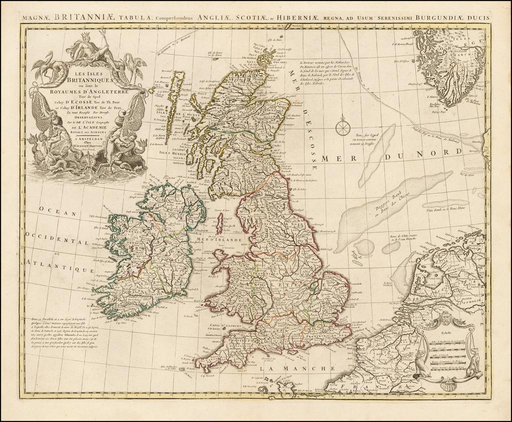 Les Isles Britanniques ou sont le Royaumes d'Angleterre Tire de Sped Celuy D'Ecosse Tire de Th. Pont et Celuy D'Irlande Tire de Petti Le tout Rectifie Par Diverses Observations. By Covens & Mortier