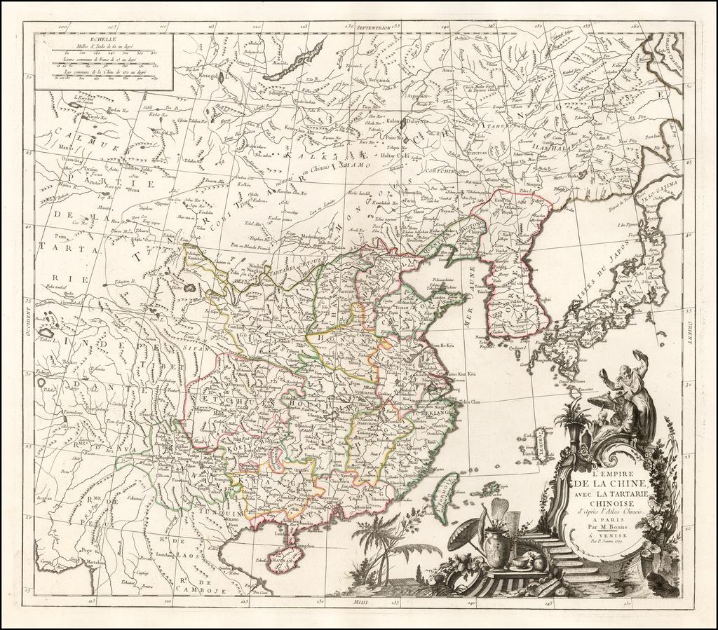 L'Empire De La Chine, Avec La Tartrie Chinoise d'Apres l'Atlas Chinois . . . 1779 By Paolo Santini