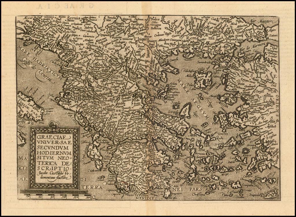 Graeciae Universae Secundum Hodiernum Situm Neoterica Descriptio . . . By Matthias Quad