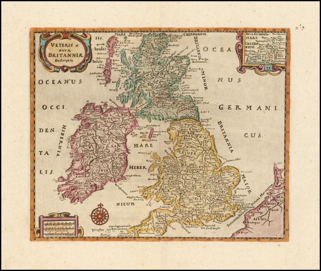Veteris et Novae Britanniae Descripio By Philipp Clüver