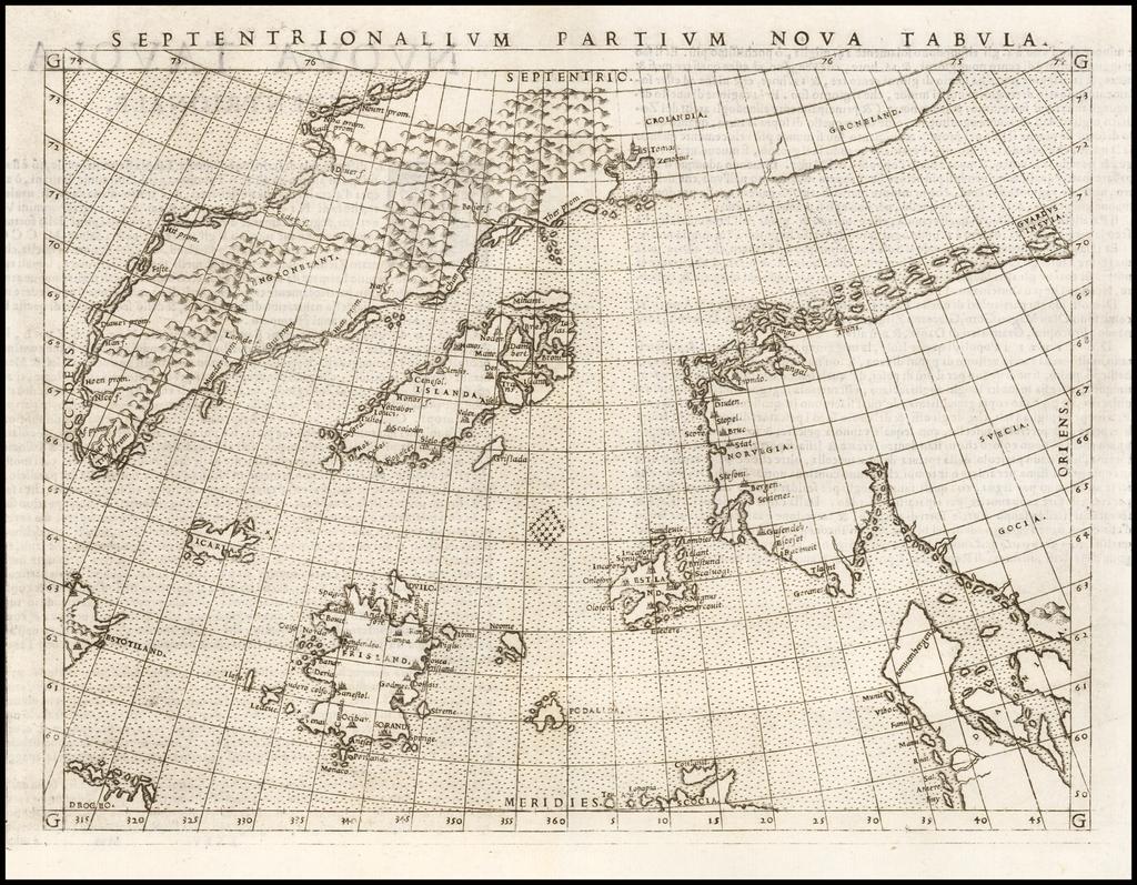 Septentrionalium Partium Nova Tabula By Girolamo Ruscelli