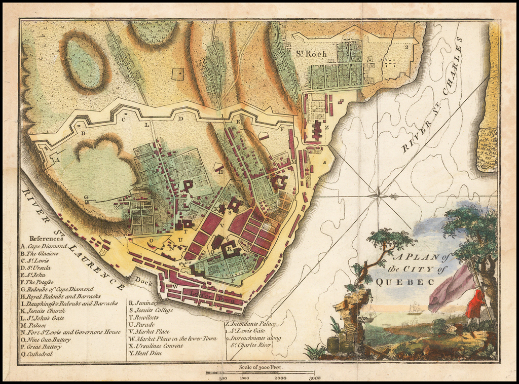 A Plan of the City of Quebec By John Stockdale