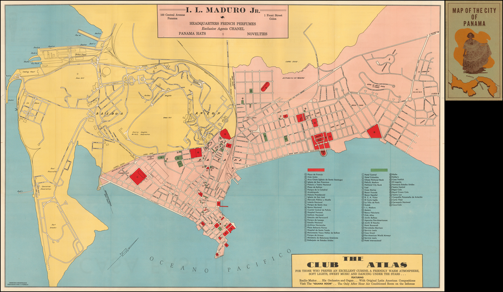 Map of the City of Panama By I. L.  Maduro