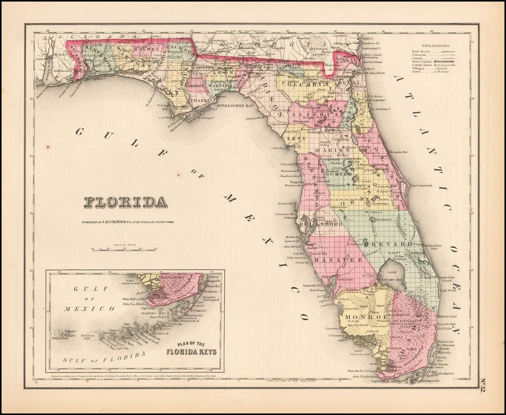 Florida By Joseph Hutchins Colton