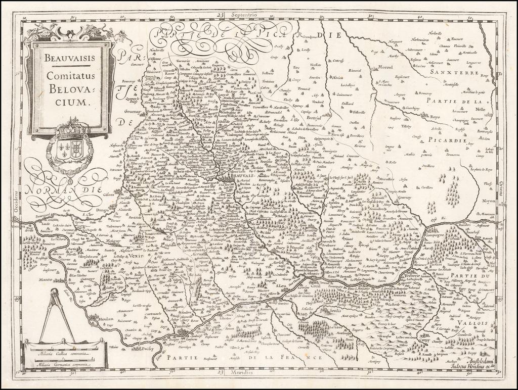Beauvaisis -- Comitatus Belovcium By Jodocus Hondius