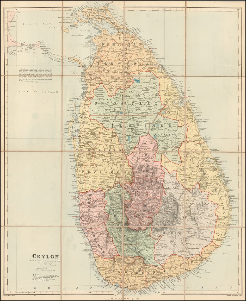 Ceylon (separately published) By Edward Stanford