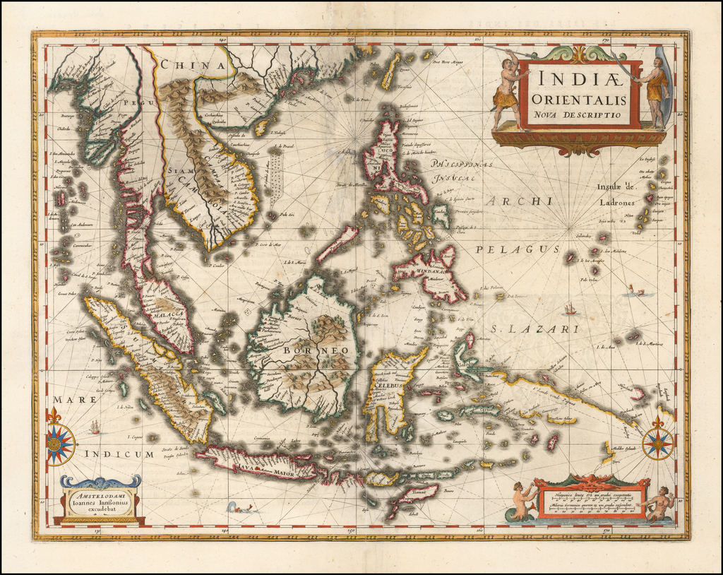 Indiae Orientalis Nova Descriptio By Jan Jansson