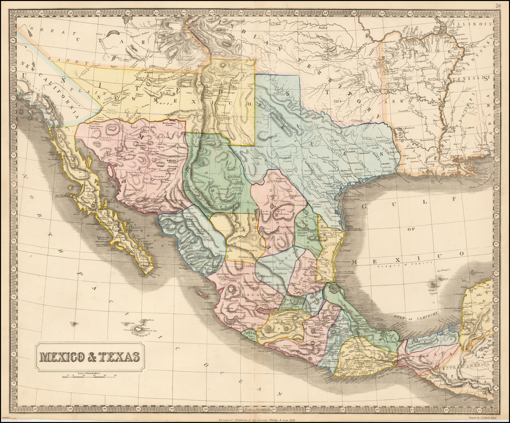 Mexico & Texas By George Philip & Son