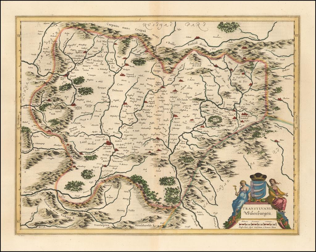 Transylvania Sibenburgen By Willem Janszoon Blaeu