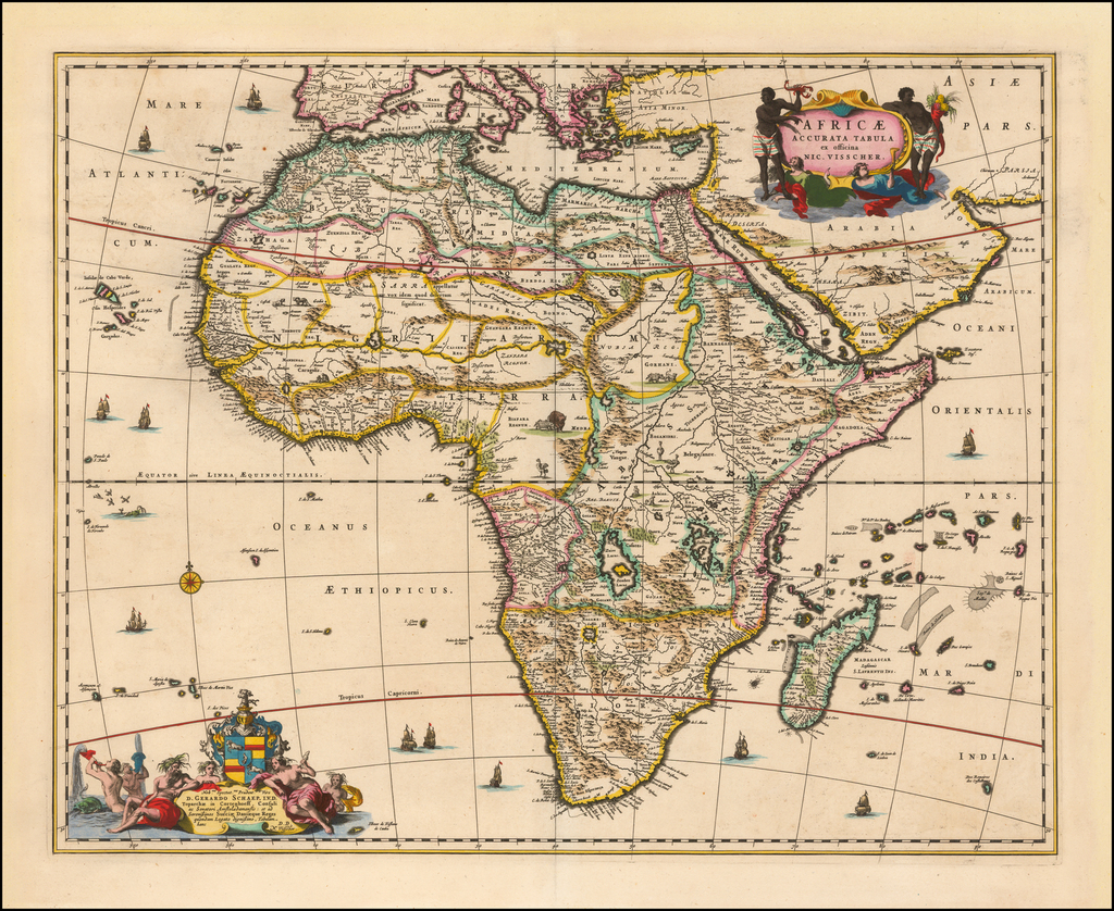 Africae Accurata Tabula ex officina Nic. Visscher By Nicolaes Visscher I