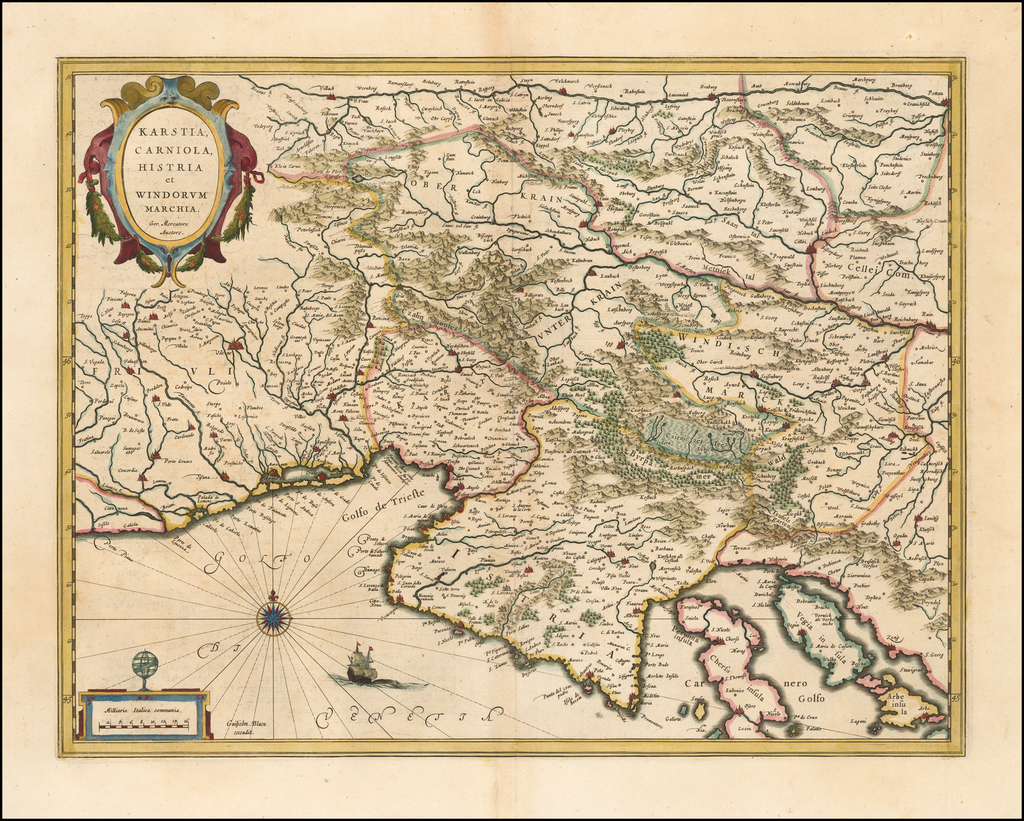 Karstia, Carniola Histria et Windorum Marchia . . . By Willem Janszoon Blaeu