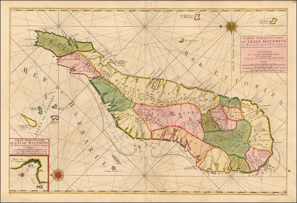 Carte Particuliere de l'Isle Dauphine ou Madagascar et St. Laurens . . .  By Pieter Mortier